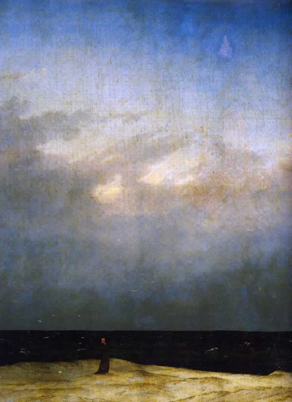 caspar-david-friedrich-monaco-in-riva-al-mare-1810-berlino-nationalgalerie